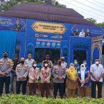 Pamatwil Polres Serang Tinjau Pos Pam Operasi Ketupat Maung 2021